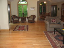 living room hardwood floor